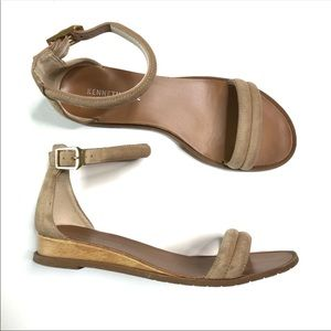 Kenneth cole ankle strap low wedge sandals